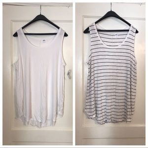 Two Old Navy Luxe Scoop Neck Tanks